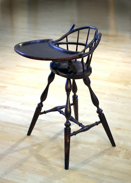 Windsor black distressed highchair.